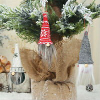 Spherical Pointed Cap Gnome Doll Christmas Ornament Xmas Tree Hanging Decor