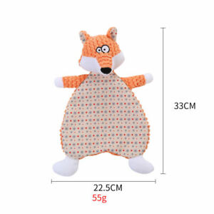 Flat Fox Toy with Crinkle Inner (no Stuffing)