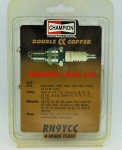 4 x CHAMPION RN9YCC COPPER Spark Plugs FOR NISSAN Pulsar 1.6L 1.8L ET EXA TURBO