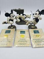 Wdcc The Delivery Boy 3pc set Mickey, Minnie, Pluto, & Title COA WBox