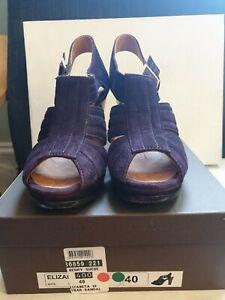 ❤ CHIE MIHARA Berry/Grape 'Elizabeta' suede heel sandals, UK 7 / 40, worn once