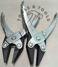 2 piezas de acción en medio redondo plana y cadena de alicates de punta joyería Alambre Crafts