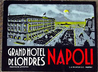 ANCIENNE PUBLICITÉ RÉTRO VINTAGE GRAND HOTEL DE LONDRES  NAPOLI  EO
