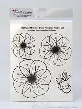 HEARTFELT CREATIONS Rubber Stamps CAMEO DAISY FLOWERS HCPC 2243 Blossom Nestab