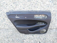 GNC 3029AF 98-03 JAGUAR XJ8LEFT REAR DRIVER DOOR PANEL BLACK LEATHER #TOP2D