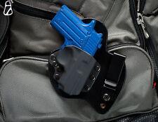 "Sig Sauer P238 Black Leather Kydex Gun Holster IWB Appendix. Fits 13/16"" only"