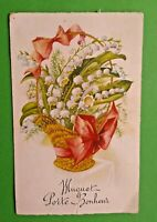 Charming Vintage French Postcard Muguet Flowers  A1151