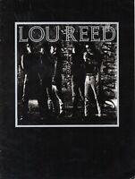 LOU REED 1989 NEW YORK TOUR-CONCERT PROGRAM BOOK-VELVET UNDERGROUND-VG TO EXC