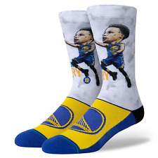 Steph Curry Golden State Warriors Stance NBA Big Head 2 Crew Socks