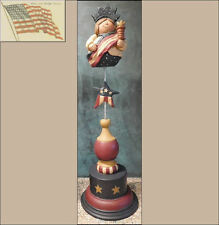 BLOSSOM BUCKET JULY 4th LADY LIBERTY ON A BASE 26261 figurine apx 4 1/2x15x4 1/2