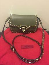 Valentino olive leather rockstud cross body bag crossbody handbag new with tags
