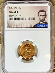 1967 SMS Lincoln 1c, NGC Certified MS 66 RD, 119P