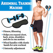 Home Gym Abs Roller Exercise Body Fitness Abdominal Workout Training Machine