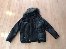 Supreme Leather Down Jacket Black M