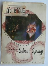 Restaurant Menu For Florida's  Famous Silver Springs Dining Room/ Coffee Ship 50