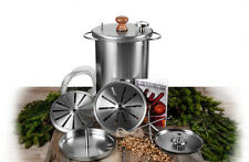Russian smoker HANHI  Meat & fish indoor stainless steel small 10l BBQ Grill !