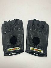 New Mens Shock Leather Fingerless Motorcycle Riding Gloves