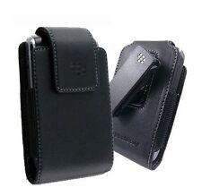 Brand New Blackberry Pocket Black Leather Swivel Holster Case - HDW-24208-001
