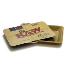 RAW Mini Rolling Tray with Magnetic Cover - allows easy storage papers tips etc