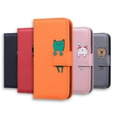 Leather Flip Wallet Case Cartoon Card Holder Stand Phone Cover For Sony Xperia