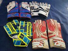 BRINE soccer LaCross Goalie Gloves lot Challenger Reusch vtg size 8 & 6 (q7)