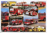 Madagascar 1999 MNH Fire Engines Trucks 4v M/S Stamps