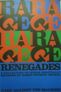 Rage Against The Machine 2000 Renegades Promo Poster Flawless New Old Stock