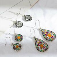 3 Pairs/Set Bohemian Boho Ethnic Dangle Drop Hook Earrings Women Retro Jewelry