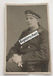 """Foto Portriatfoto Matrose m. Tellermütze """" Marine Flieger Abteilung"""" 1 Weltkrieg"""