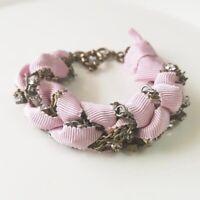 """New 7.5"""" Jcrew Rhinestone Statement Bracelet Gift Vintage Women Party Jewelry"""