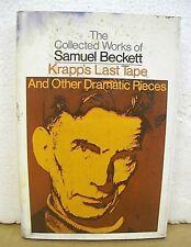 Krapp's Last Tape & Other Dramatic Pieces by Samuel Beckett 1970 HB/DJ