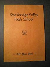 1948 Stockbridge Valley High School YEARBOOK Munnsville, New York