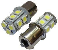 2x Ampoules 24V P21W R10W R5W 13LED SMD blanc pour camion semi-remorque portail