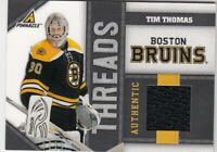 TIM THOMAS NO:TT AUTHENTIC JERSEY 131/499 in PANINI PINNACLE 2011     a