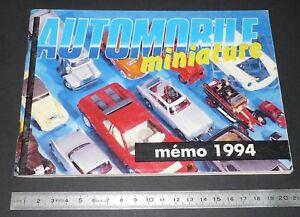 MEMO 1994 AUTOMOBILE MINIATURE MARQUES CLUBS ADRESSES PUBS
