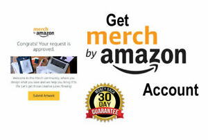 Merch By Amazon Tier 10 Account For Print On Demand (One Design Upload)