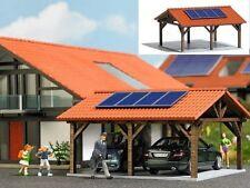Busch 1571 Solarcarport Carport Sonnenkollektoren Echt Holz Bausatz H0 1:87 Neu