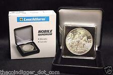 39mm Coin Display 2x2 Capsule NOBILE Q50 Box Silver Round QUADRUM INTERCEPT #1