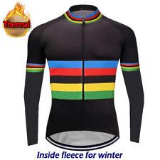 Thermal Cycling Jacket MTB Bike Jersey Long Shirt Top Coat Winter Fleece Clothes