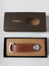 Orbitkey 1.0 Tan Leather Keyring Organiser with White Stitching