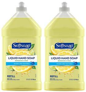 (Pack of 2) Softsoap Liquid Hand Soap Refill, Refreshing Citrus Scent, 32 Fl Oz