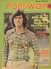 Alan Osmond on Popswop No. 59 Magazine Cover 1973   Mick Jagger   Marc Bolan
