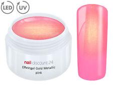 UV Farbgel golden Pink 5ml Metallic Effekt French Gel Nailart Modellage