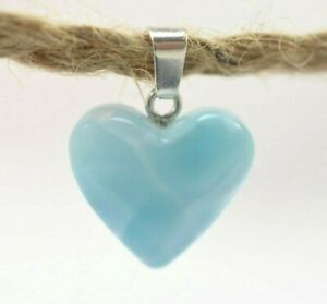 Dominican Larimar Necklaces Blue 925 Silver Gem Stone Natural (2.7 G) A768