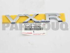 7547360240 Genuine Toyota PLATE, REAR BODY NAME, NO.3 75473-60240