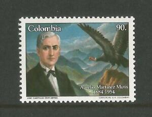 COLOMBIA 1987 Condor Bird Aurelio Martinez Mutis poet MNH SG1785