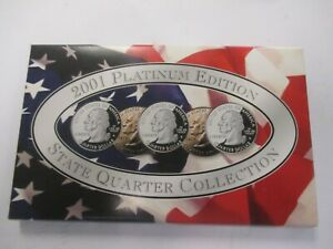 2001 PLATINUM EDITION 50 State Quarters Collection BU Uncirculated Set