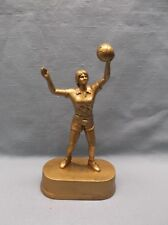 gold finish female Volleyball statue trophy resin award Jds72