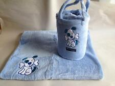 Microplush Blue Puppy Snuggle Rug in a bag