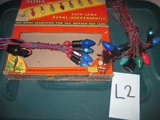 Lot 2 Vintage Noma & Royal Christmas Lights Red Bead Bakelite Multicolored Box